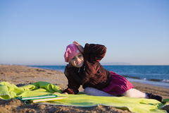 Little girl by the sea Royalty Free Stock Photography