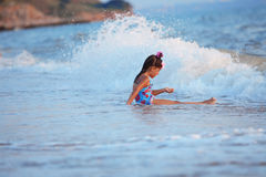 Little girl in the sea Stock Image