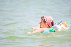 Little girl at the sea Stock Photography