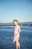 Little girl at the sea Royalty Free Stock Photos
