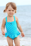 Little girl  on the sea Royalty Free Stock Images