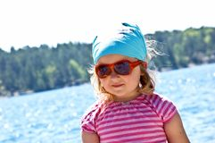 Little girl at the sea Royalty Free Stock Images