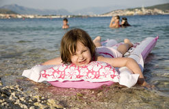 Little girl on the sea - holiday Royalty Free Stock Photo
