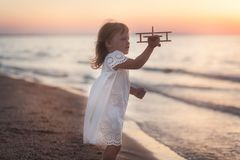 Little girl and sea Stock Photo