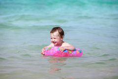 Little girl in the sea Royalty Free Stock Images