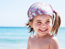 Little girl at sea Stock Photography