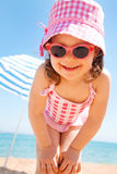 Little girl at seaside Stock Photography