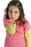 Little Girl Send A Kiss Royalty Free Stock Image