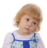 Little girl serious Royalty Free Stock Photos