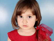 Little Girl Seriously Looking Stock Photos