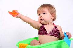Little Girl Sharing Royalty Free Stock Photography