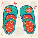 Little girl shoes Royalty Free Stock Photo