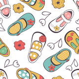 Little girl shoes seamless pattern Royalty Free Stock Photography