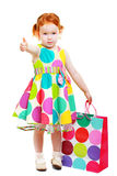 Little girl shopaholic Stock Photo