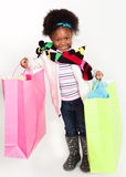 Little Girl Shopper Stock Image
