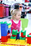 Little girl in shopping Stock Photos