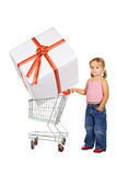 Little girl shopping Stock Photo
