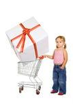 Little girl shopping Stock Photo