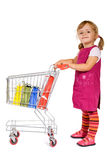 Little girl shopping stock image