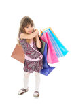 Little girl shopping Stock Images
