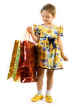 Little girl with shopping bag. Royalty Free Stock Photo
