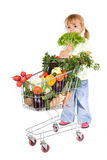Little girl shopping vegetables Stock Image