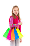 Little girl shopping Royalty Free Stock Images