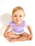 Little girl shot wide angle Stock Photos