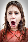 Little girl shouting Stock Photography