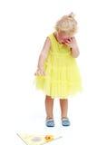 Little girl  shovel Stock Image