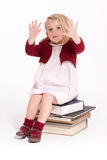 Little girl showing her hands Royalty Free Stock Photo