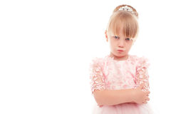 Little girl showing offence Stock Images