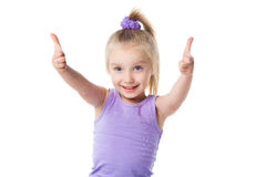 Little girl showing okay sign Stock Images