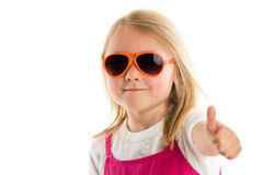 Little girl showing thumbs up Royalty Free Stock Photos