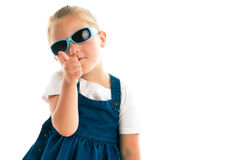 Little girl showing thumbs up Royalty Free Stock Image