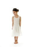 Little girl with shy expression stock photography