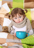 Little girl sick Stock Photography