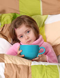 Little girl sick royalty free stock image