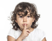 Little girl silence Royalty Free Stock Image