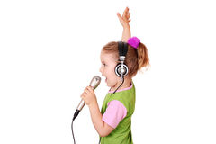 Little girl singing Royalty Free Stock Photos