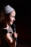 Little girl singing Royalty Free Stock Images