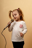 Little Girl Singing Royalty Free Stock Image
