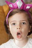 Little girl singing Royalty Free Stock Photography
