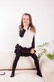 Little girl singing Stock Photo