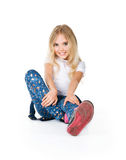 Little girl sit royalty free stock images
