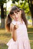 Little girl sits royalty free stock images