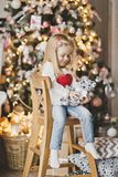 Beautiful child in anticipation of the new year 7309. royalty free stock photo