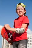 Little  girl with  skateboard Royalty Free Stock Photo