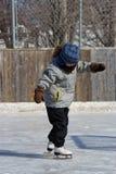 Little girl skating Royalty Free Stock Photos