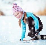 Little Girl Skating Stock Image